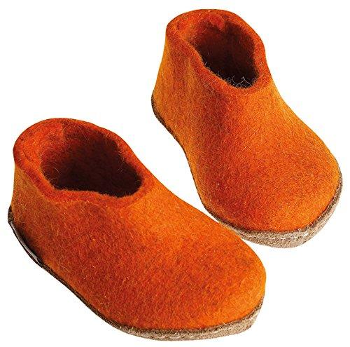 Glerups Modell AA Kinderfilzschuh orange