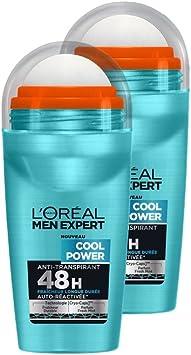 LOréal Men Expert Desodorante fresco de la energía bola del hombre Lote 2: Amazon.es: Salud y cuidado personal