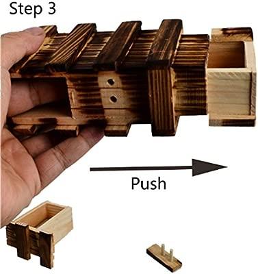 Lomire Caja M/ágica de Manera con Dos M/ágicos Cajones Secretos de Regalo Interesante Caja Almacenamiento de Joyer/ía Juguete del Rompecabezas Puzzle