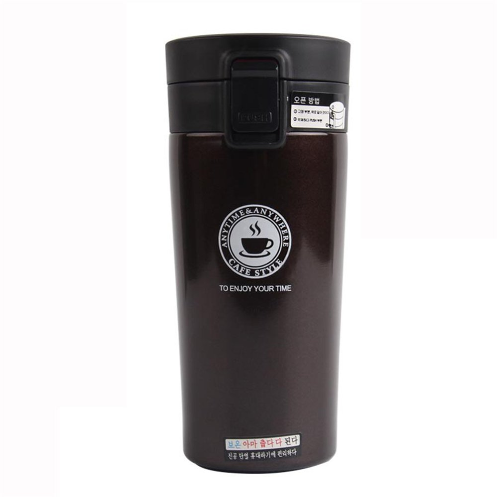 MMRM 380 mlポータブルステンレススチールコーヒー真空カップ断熱カップ熱保存ボトル Unique ブラウン Mmrm773276 B078BML96B  コーヒー