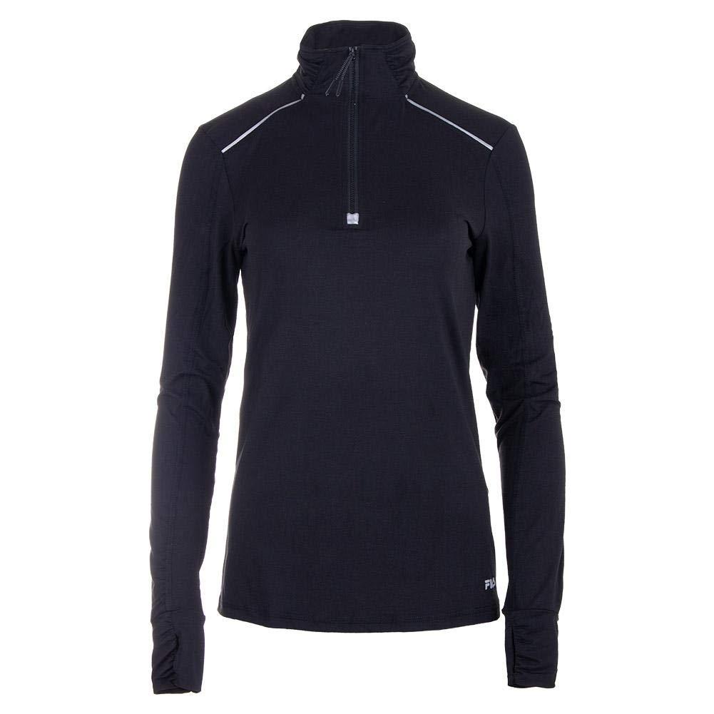 Fila-Women`s Half Zip Tennis Jacket-(789482730031) Black