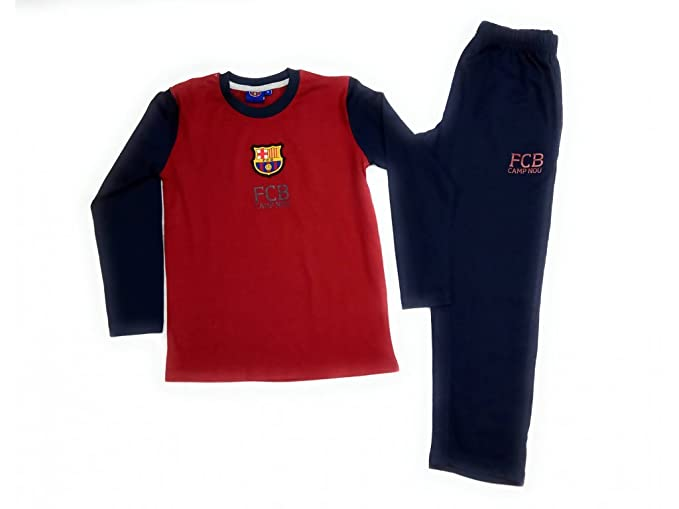 Real Madrid Pijama FC Barcelona oficial niño - Talla 12, Azul