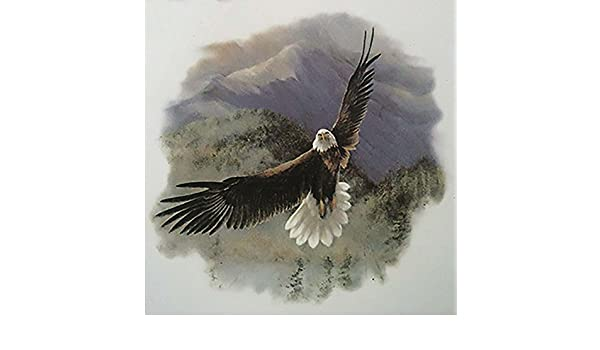 488 American Bald Eagle in Flight Ceramic Decals By The Sheet Select-A-Size 4 pcs 5-1//2