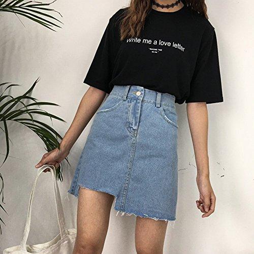Jupe Haute Chic Une Corenne STTS M Irrgulire Jupe Bleu Taille w7qASZv