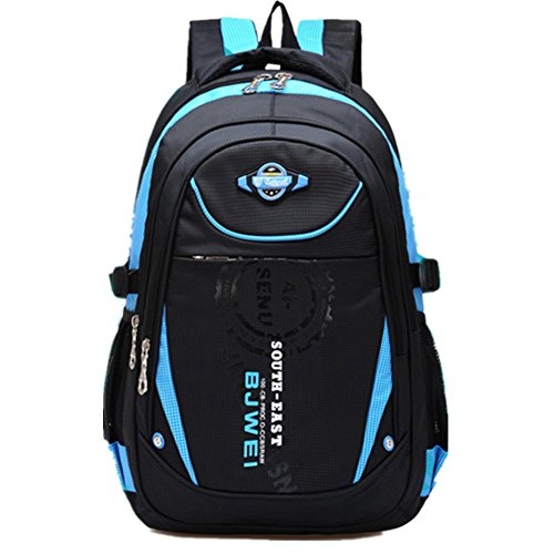 MAYZERO Kid's Outdoor Backpack School Bags Waterproof Travel Camping Bags (Blue)