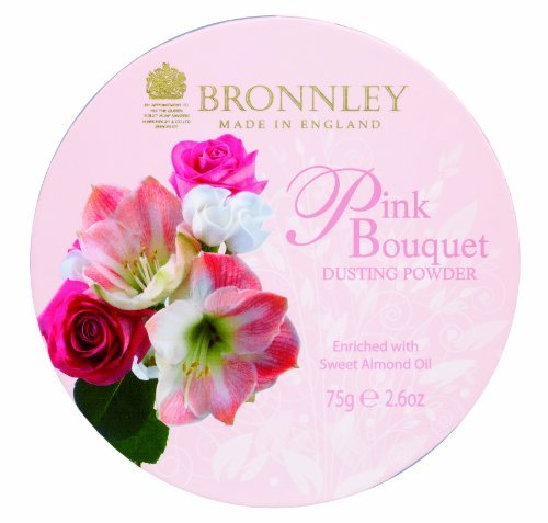 Bronnley Pink Bouquet 75g/2.6oz Dusting Powder by Bronnley