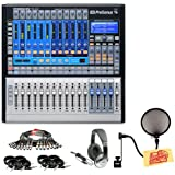 Presonus StudioLive 16.0.2 16-Channel Audio Mixer Pack with Multicore 8XLRF-8XLR Cable, 8 Instrument Cables, Pop Filter, Headphones, and Polishing Cloth
