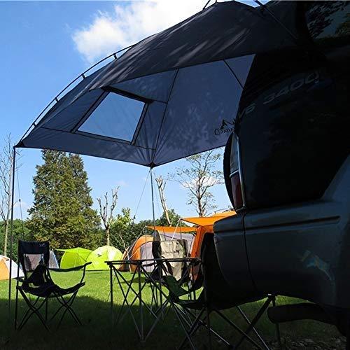 EGECL Car Tent - Folding Sunshade Carports - Anti-UV Roof Top Tent - Car Sun Shelter Awning - Hiking, Climbing, Fishing