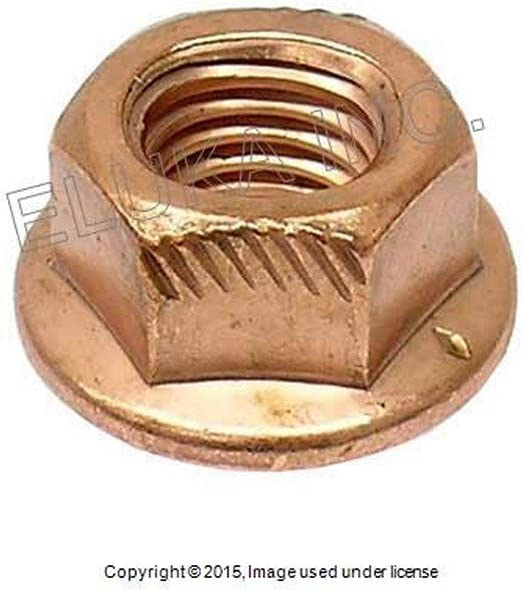 Baosity Pack-12 M8 Exhaust Lock Nut Copper Plated Steel 8mm Hex Fits for BMW 3 Series E30