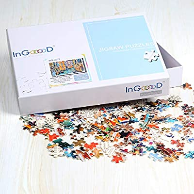 Ingooood- Jigsaw Puzzle 1000 Pieces- European Scenic Series- A&O Venedig Mestre_IG-0436 Entertainment Wooden Puzzles Toys: Toys & Games