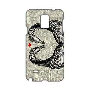 Angl 3D Case Cover Loveheart Giraffe Phone Case for Samsung Galaxy Note4 wangjiang maoyi by lolosakes
