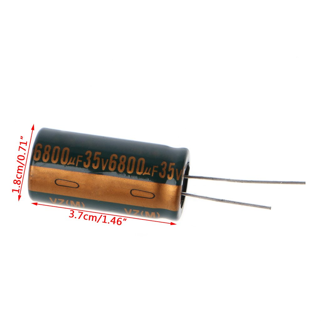 Viesky 5pc 35V 6800uF Capacitance Electrolytic Radial Capacitor High Frequency Low ESR