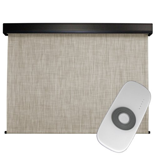 Premium Outdoor Sun Shade, Motorized-Remote, 10-Feet by 8-Feet, Caribbean by Keystone Fabrics