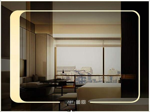 ỸẼT Regarder Le Verre LED Salle De Bains Miroir Mural De ...