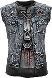 Spiral - Mens - Thrash Metal - Allover Sleeveless T-Shirt Black - M