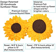 Amazon Com Sunflower Decorative Throw Pillows 3d Flower Pillow Accent Round Pillow Sunflower Decorations Flower Shaped Decor For Living Room 14 5 Flower 13 Round Pillow With Insert Sunny Home Kitchen