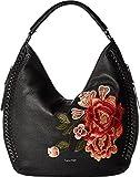 Calvin Klein Womens Flower Embroidery Hobo Flower One Size