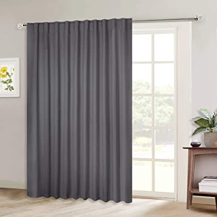 Sliding Glass Door Treatments.Nicetown Sliding Door Curtains Wide Thermal Blackout Patio Door Curtain Panel Vertical Blind Sliding Glass Door Drapes Draperies With Back Tab