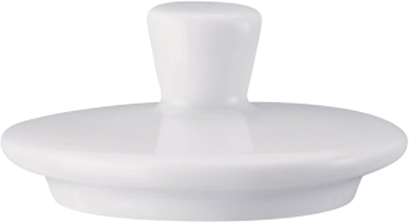 Porcellana Pezzo di Ricambio Arzberg Form 1382 Coperchio per Zuccheriera 120 ml 41382-800001-14322 Bianco