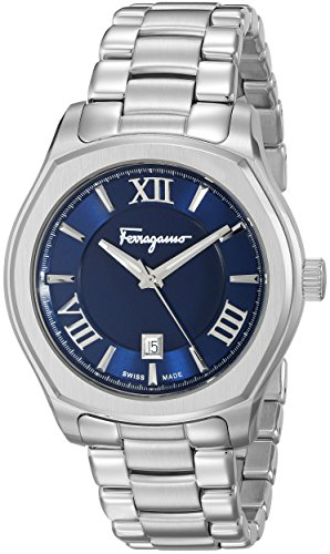 Salvatore Ferragamo Men's FQ1960015 Lungarno Analog Display Quartz Silver-Tone Watch
