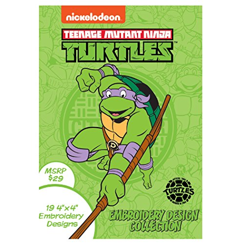 Nickelodeon SANICKNT Teenage Mutant Ninja Turtles Embroidery Design Collection CD (Software Embroidery Designs)