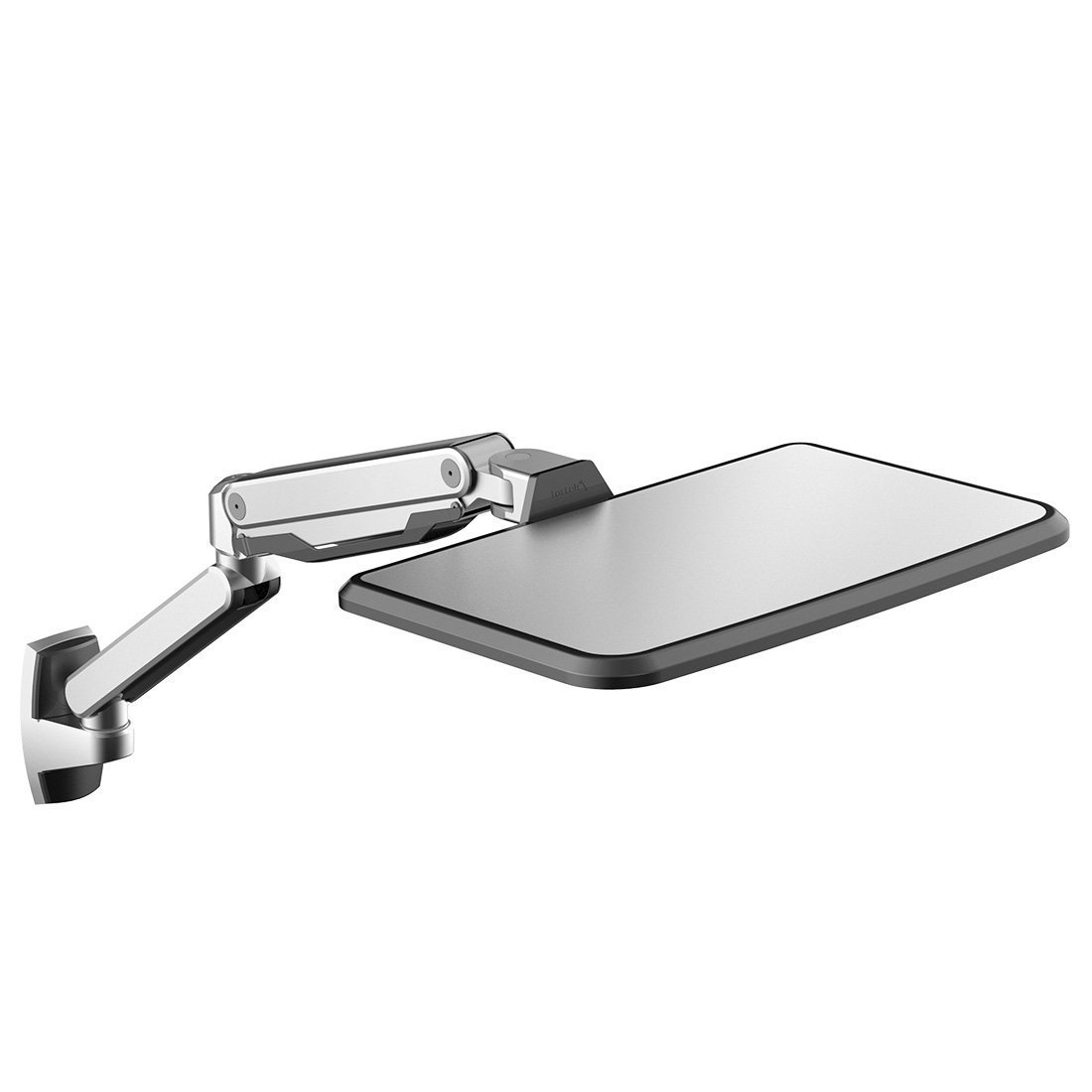 Loctek WS2L Sit Stand Workstation Height Adjustment Ergonomic Laptop Wall Mount Arm for 10'' - 17'' Notebook MacBook Air, MacBook Pro, Support 2.2-15.4lbs