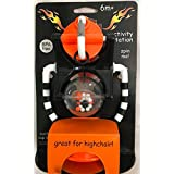 """Harley Davidson Activity Station High Chair Toy Black White and Orange """"Born to Ride"""""""