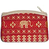 Wallet Thai Elephant Coin Purse - Red