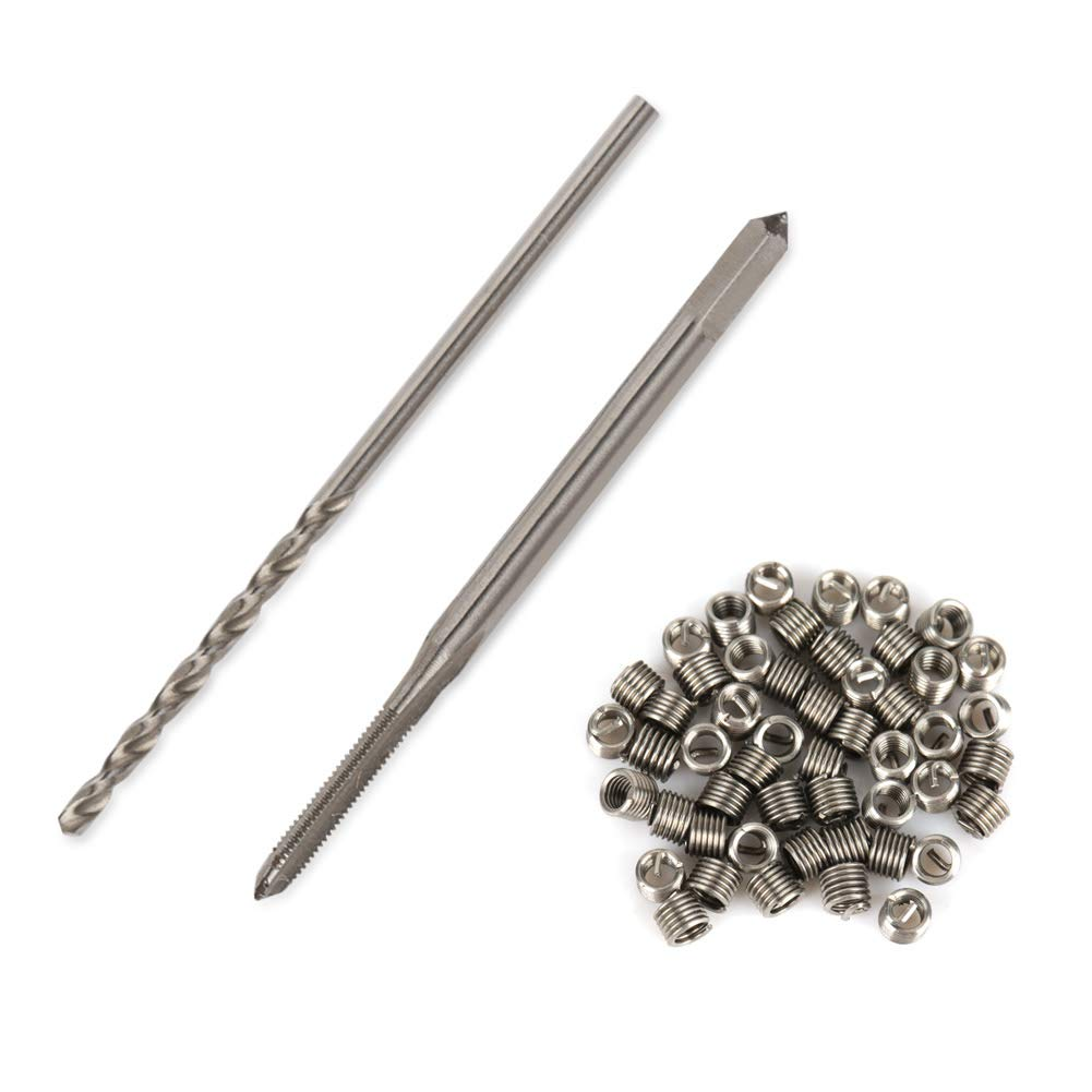 Thread Repair Insert, 50pcs Stainless Steel Coiled Wire Helical Screw Thread Inserts M1.60.352D hex Nuts Helical Insert: Industrial & Scientific
