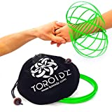 Toroidz (Glow - Amazing Magic Flow Toy w/ Quality Velvet Travel Bag - Interactive Museum - 3D ARM RING - Science, Circus , Festival - All Ages Gift