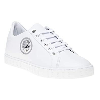 Versace Collection Logo Formal Homme Baskets Mode Blanc  Amazon.fr   Chaussures et Sacs 4e99cb73d8c