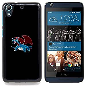 "Qstar Arte & diseño plástico duro Fundas Cover Cubre Hard Case Cover para HTC Desire 626 (Meter Monster Blue Dragon"")"