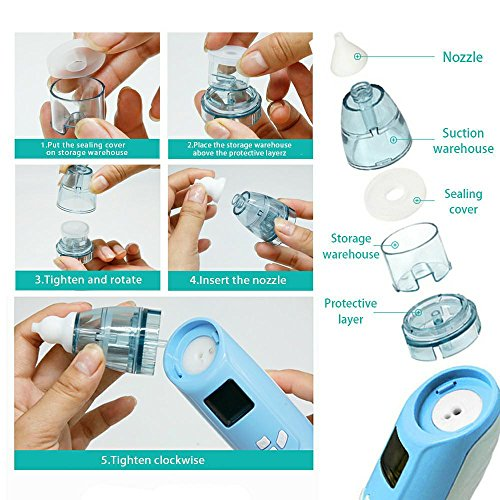 Baby Nasal Aspirator Sumgott Electric Nose Cleaner With