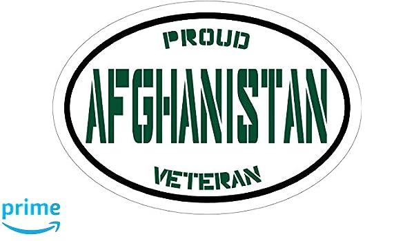 WickedGoodz Vinyl Green Proud Afghanistan Veteran Decal Patriotic Bumper Sticker Perfect Soldier Military Gift