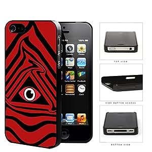 Eye Of Providence Illuminati Symbol Red Hard Plastic Snap On Cell Phone Case Apple iPhone 4 4s