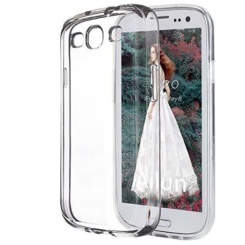 Clear Skin Transparent (Galaxy S3 Soft Slim Skin TPU Gel Case, LUVSS Crystal Ultra Thin Flexible Bumper, Perfect Fit Transparent Back Cover, Lightweight Silicone Protective Phone Case for Samsung Galaxy S3 I9300 - Clear)
