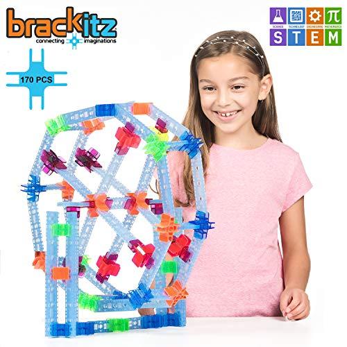 Brackitz Inventor 170 Piece Set: Educational Construction Set - Learning Toys & Building Blocks for Kids