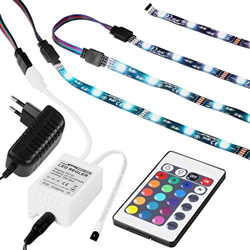 Jago TV-Hintergrundbeleuchtung für Modelle 15,6-65 Zoll in 16 verschiedenen Farben und 4 Farbwechseleffekte inkl. Fernbedienung