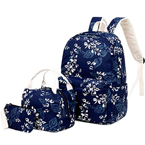Teen Kids Girls Women Nylon School Backpack,YuhooSun Cherry Print Laptop Shoulder Bag Rucksack Bookbag Lunch Bag