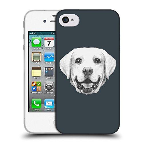 GoGoMobile Coque de Protection TPU Silicone Case pour // Q05370606 Portrait labrador Arsenic // Apple iPhone 4 4S 4G