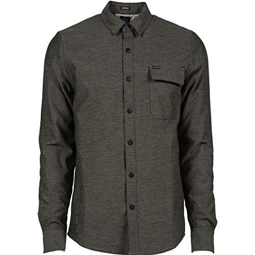Volcom Men's Barlow Long Sleeve Shirt, Black, Medium (Volcom L/s Tee)