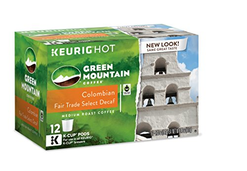 Green Mountain Coffee Colombian Fair Trade Select Decaf, Keurig K-Cups, 72 Count, (Packaging may vary)