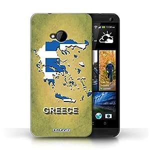 KOBALT? Protective Hard Back Phone Case / Cover for HTC One/1 M7 | Greece/Greek Design | Flag Nations Collection
