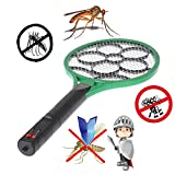 Handheld Electric Mosquito Fly Bug Insect Zapper Killer Wasp Racket Cordless Rechargeable
