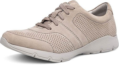Dansko Womens Alissa Sneaker Taupe Macinato Nubuck