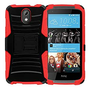 Zizo Carrying Case for HTC Desire 526 - Retail Packaging - Red/Black