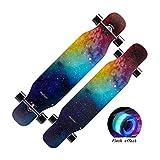 HXGL-Skateboard Skateboard Longboard Brush Street Dance Board Four-Wheeled Scooter Beginner Adult Teen Girls Boys Professional Skateboard (Color : Blue)