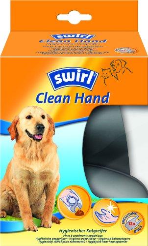 Swirl 196982 Clean Hand - Pinzas higiénicas con bolsa para retirar los excrementos de animales