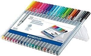 Staedtler 334SB20US Triplus Fineliner Pens (20 Pack), Multicolor