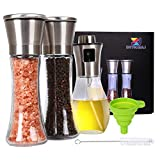 Salt and Pepper Grinder Set Oil Sprayer for Cooking Stainless Steel...